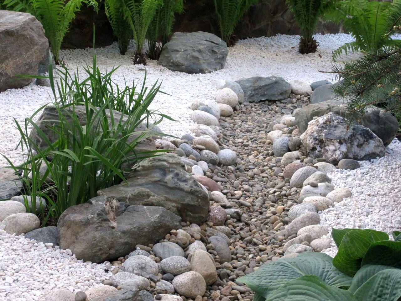Как сделать сухой водоем на даче